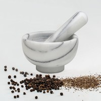 43717-- HIC, Mortar and Pestle Marble