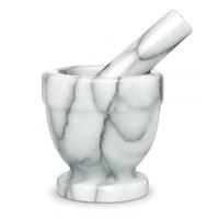 43755-- HIC, Mortar annd Pestle Marble 4 1/2 x 4