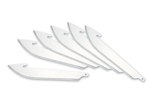 "Outdoor Edge RR30-6--Outdoor Edge, 3.0"" Drop-Point Replacement Blade Pack (6 Pieces)"