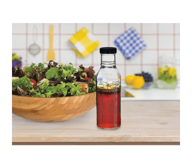 13214--HIC, Salad Dressing Mixer Bottle, Glass
