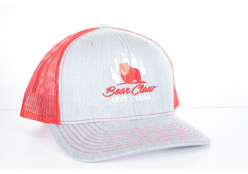 Century Graphics Century Graphics, Bear Claw Hat--Heather Grey and Red