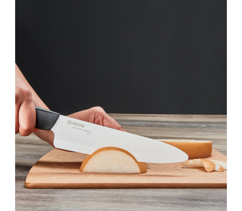 """121949--Kyocera, Revloution White 7"""" Professional Chef's Knife"""