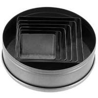 5253--Ateco, 6pc, Plain Square Cutter Set