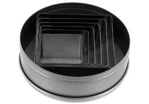 Ateco 5253--Ateco, 6pc, Plain Square Cutter Set