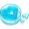 Ateco 5751--Ateco, 7 pc Plain Heart Cutter Set