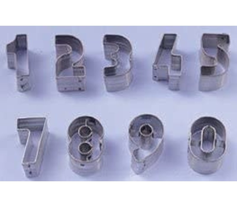 7802--Ateco, 9 pc Number Cutter Set