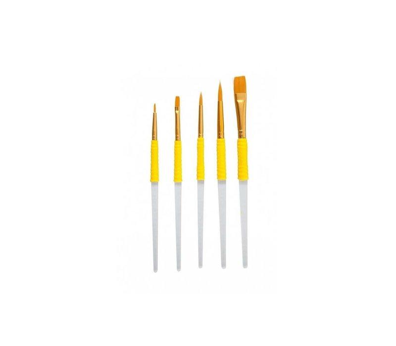 CB1007--PME, Set of 5 Craft Brushes