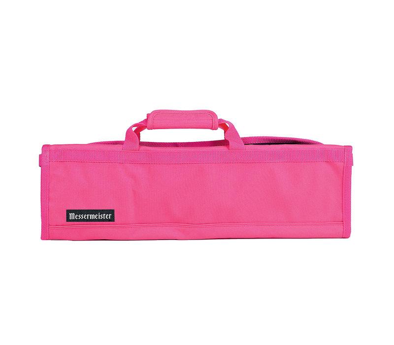 2066-8/P--Messermeister, Padded Knife Roll 8 Pocket, Pink