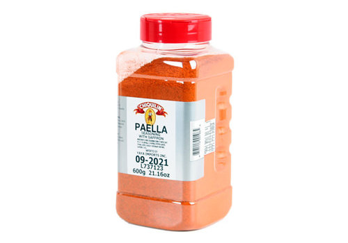 Yaya Imports SP053--YayaImports, Paella Seasoning with Saffron - Square Food Service Jar