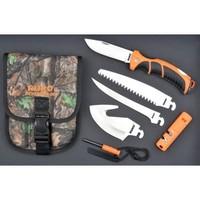 A135--RUKO, Ruk0133CA Fixed Blade Knife Set Nylon/Rub Handle