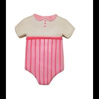 "0950/WS--R&M, White Baby Bodysuit CC 4"" (Single)"