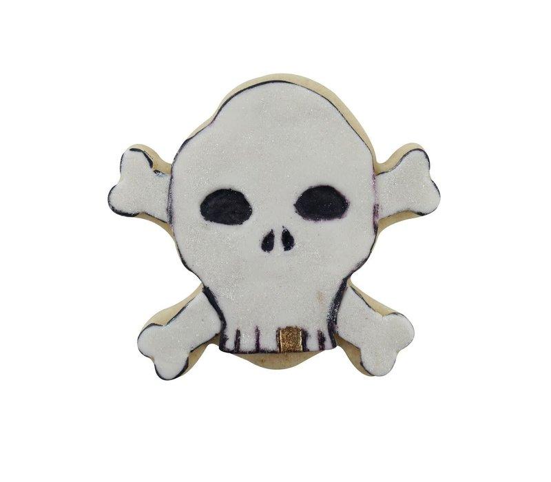 "0931S--R&M, Black Skull & Cross Bones CC 3.5""  (Single)"