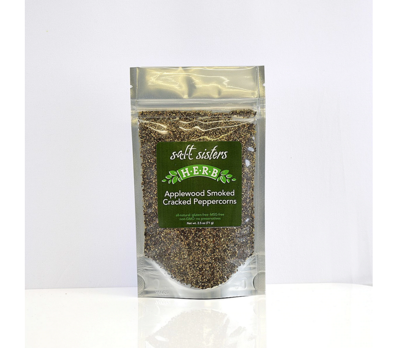 207-CP4--S.A.L.T.Sisters, Applewood Smoked Black Peppercorn 2.5oz single