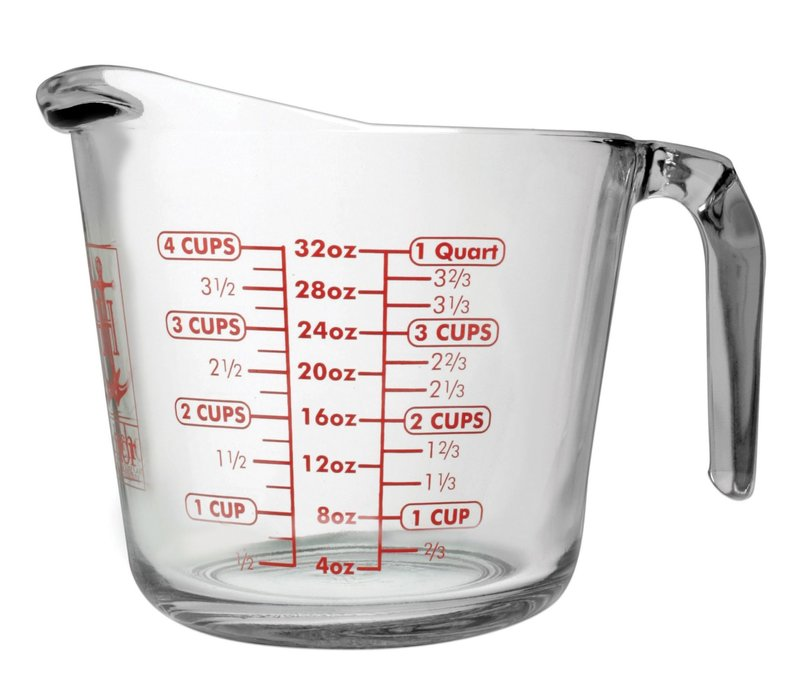 4904--HIC, Measuring Cup Glass, 4 Cup