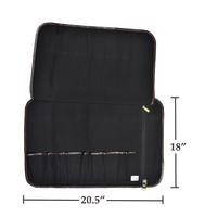 CKR111--Boldric, Canvas - 9 Slot Knife Bag, Black