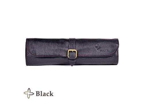 Boldric LB123--Boldric, Leather One Buckle, Eight Pocket, Black