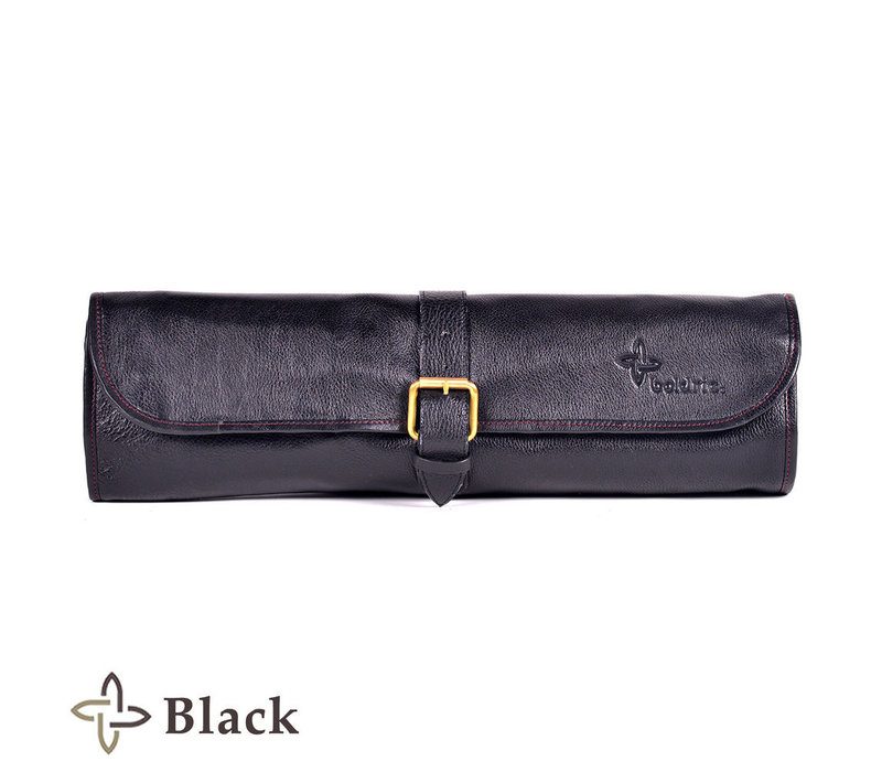 LB123--Boldric, Leather One Buckle, Eight Pocket, Black