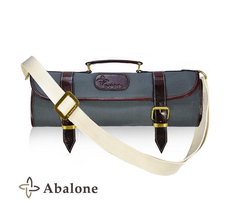 CKR109--Boldric, Canvas Knife Roll Abalone