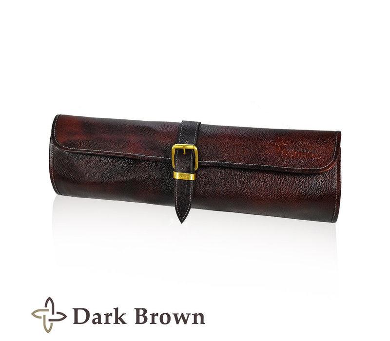 LB122--Boldric, Leather One Buckle Dark Brown