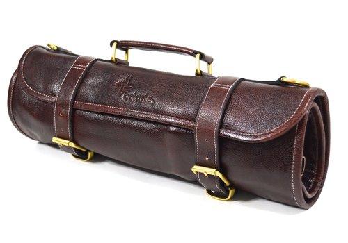 Boldric LKR100--Boldric, Leather 9 PK Knife Roll Brown