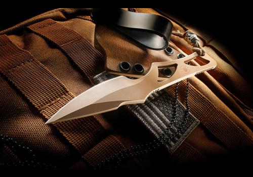 Spartan Blades SB2DE--Spartan, Enyo FDE w/ IWB Tan Sheath, S35VN
