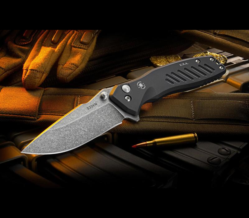 SF3SW--SpartanBlades, Pallas Folder, Satin Blade , Black