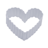 """R & M International Corp 1144/WS--R&M, Fluted Heart 2.5"""" White (single)"""