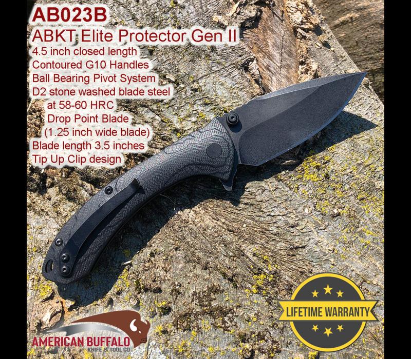 AB023B--ABKT, Shadow Protector, D2 Stonewash and G-10 Handles