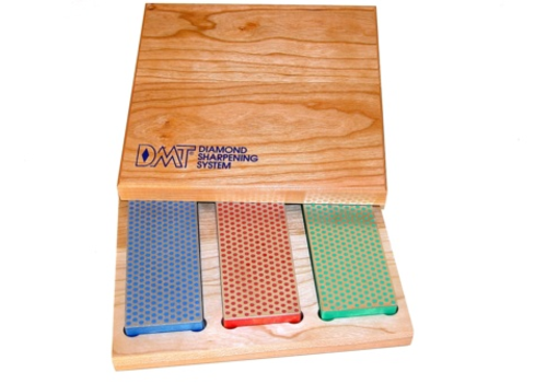 DMT Diamond Sharpeners W6EFC--DMT, Three Diamond Whetstones in Wood Display Box