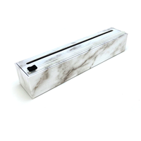 "4004--AllenReed, Dispenser Carrara Marble Plastic Wrap 12"" x 250'"