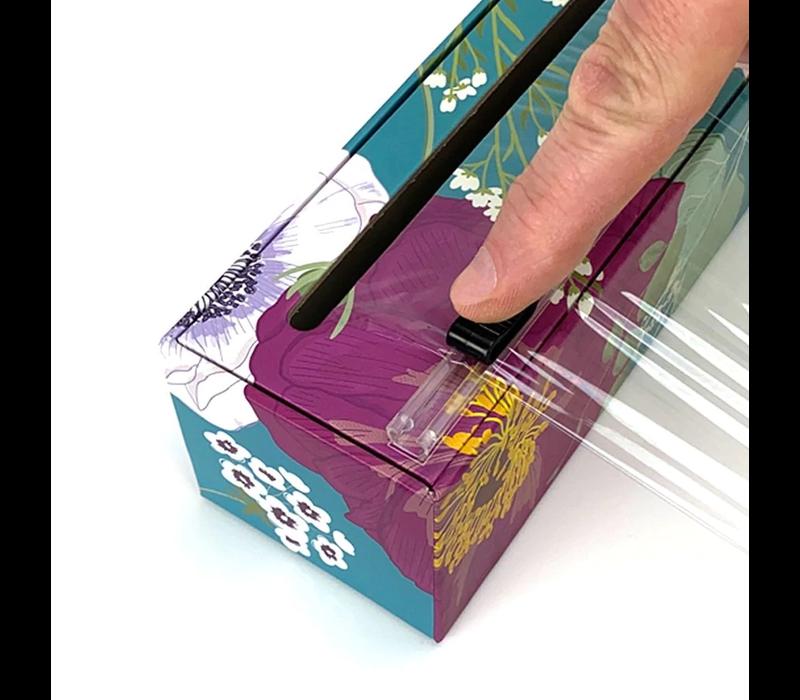 "4012--Allen Reed, Dispenser Spring Flowers Plastic Wrap 12"" x 250'"