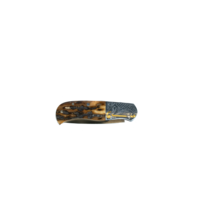BMK04--MerzKnives, Auto, Gold Inlaid Engraving Mammoth Handle
