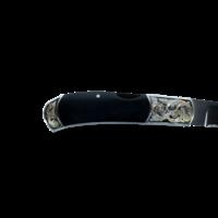 BMK03--MerzKnives, Blue-Black Mammoth Handle