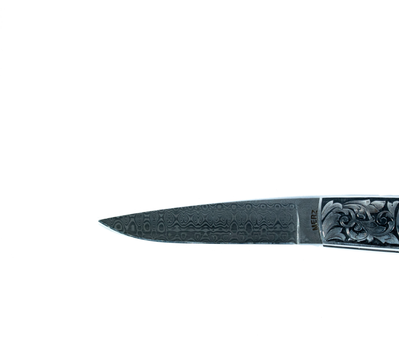 BMK01--MerzKnives, Damasteel Damascus 5.5