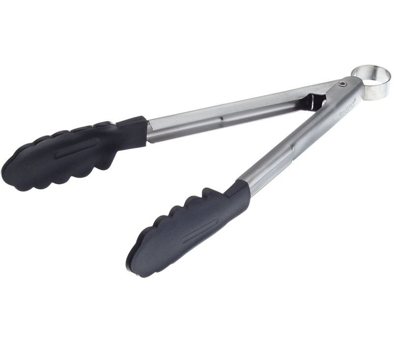 """74708602--Browne, Cuisipro, Silicone Tong, 9.5"""", Black"""
