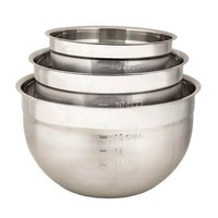 747390--Browne, Cuisipro, Mixing Bowl Set, 3pc