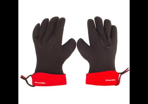 """Kitchen Grips 100202-11--Browne, KG Chef's Glove, 11"""", Cherry/Black"""