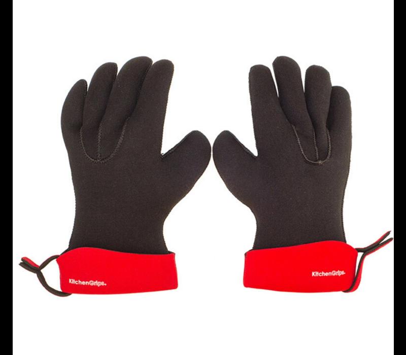 """100202-11--Browne, KG Chef's Glove, 11"""", Cherry/Black"""