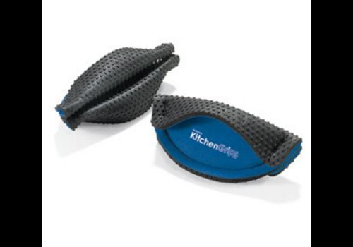 Kitchen Grips 110501-20--Browne, Kitchen Grips Handle Holder Blue/Black  2pc.