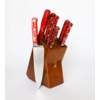 Lamson 59902--Lamson, FIRE Series, Forged 10pc Block w/ Walnut Block