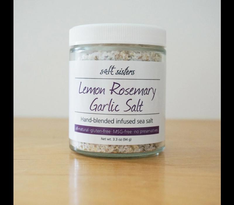193-CP12--SaltSisters, Lemon Rosemary Garlic Infused Sea Salt 3.3oz single