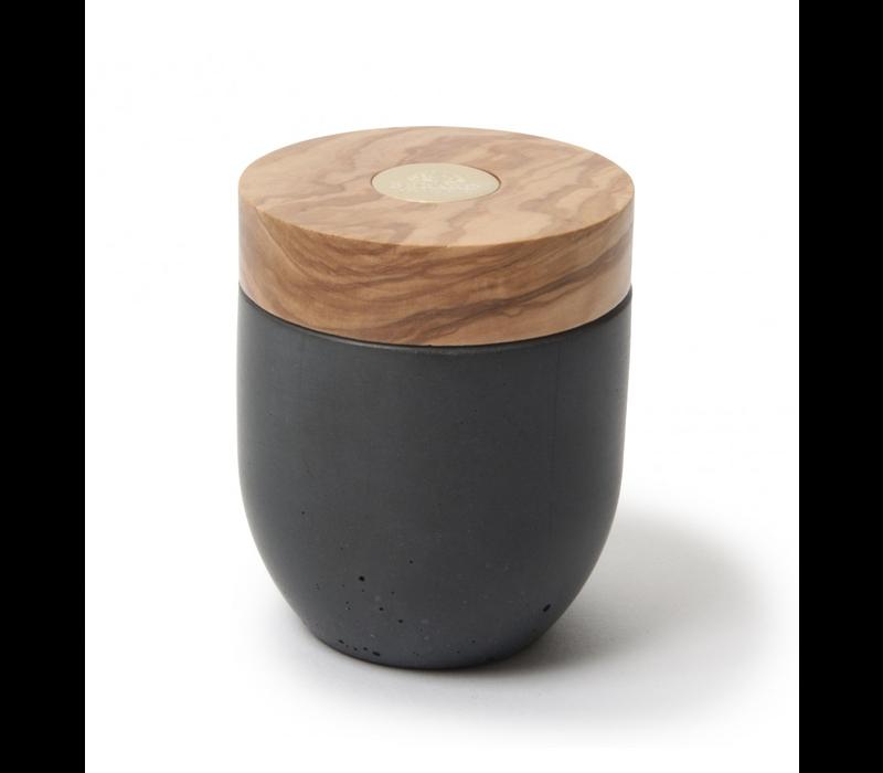 BER41171--Browne, Berard Round Salt Keeper Millenari Grey 10x7cm
