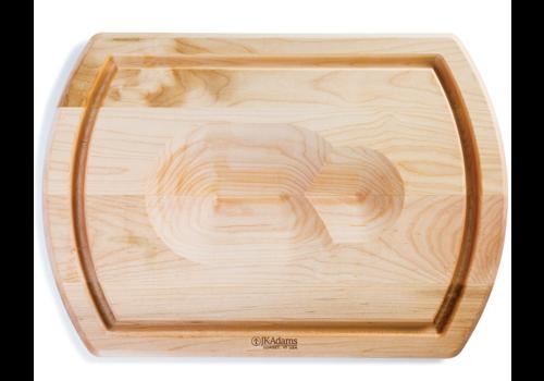 JK. Adams TBS-2014--J.K. Adams, Turnabout Cutting Board, Maple with Roast/Bird Cradle