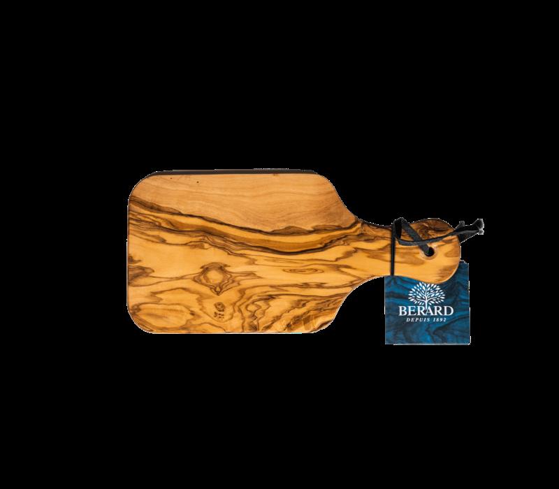 "BER54070--Browne, Berard Cutting Board W/ Handle 8x4.25"" /21x11cm Olivewood"