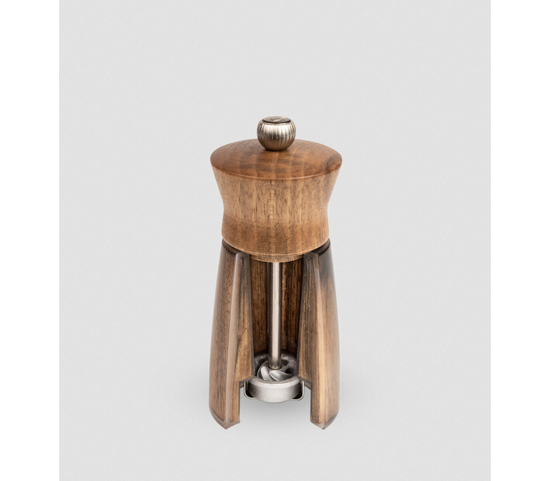 33750--PSP, Meribel Pepper Mill Acrylic/Walnut 14cm