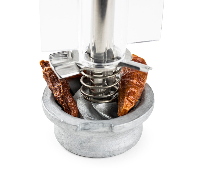 28428--PSP, Oleron Chili Pepper Mill Acrylic/Wood Chocolate 14cm