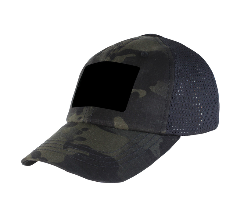 TCM-021--Condor, Outdoor Mesh Tactical Cap - Multicam - Black