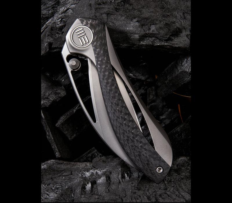 821A--WEKnives, Pleroma W/Titanium & Carbon Fiber Handle & M390 Steel