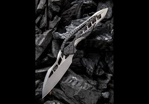 WE Knife Co. 906CF-C--WEKnives, Arrakis  W/Titanium & Carbon Fiber Handle & M390 Steel