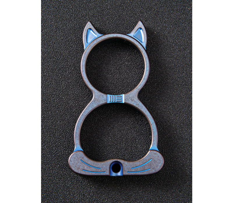 A-07C--WEKnife, WE Cat, Blue Ti Collectible Knuckle